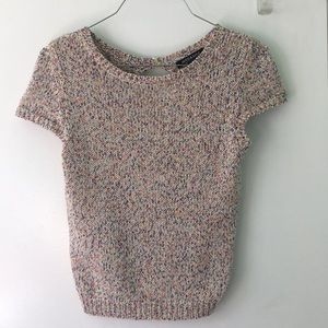 Hers & Mine Knit sweater top colorful size medium